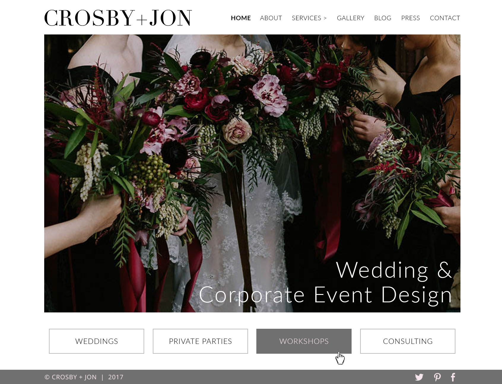 Crosby + Jon Home Page Alternate